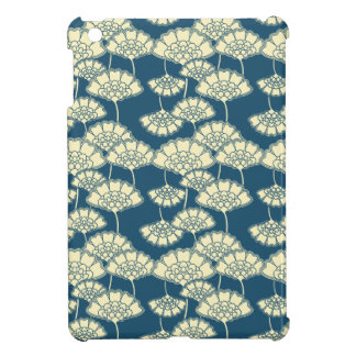 Dark turquoise gold foil floral Japanese pattern iPad Mini Case
