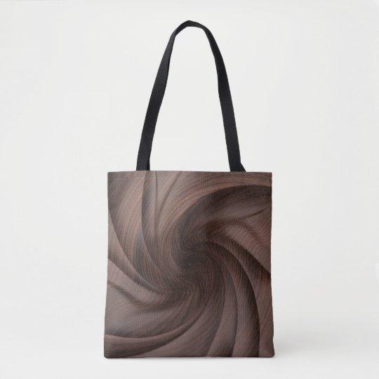 Dark Twisted wood design tote bags