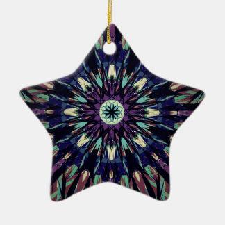 Dark Tye Dye Christmas Ornament