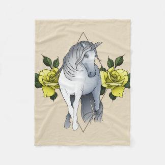 Dark Unicorn Fleece Blanket (Small)