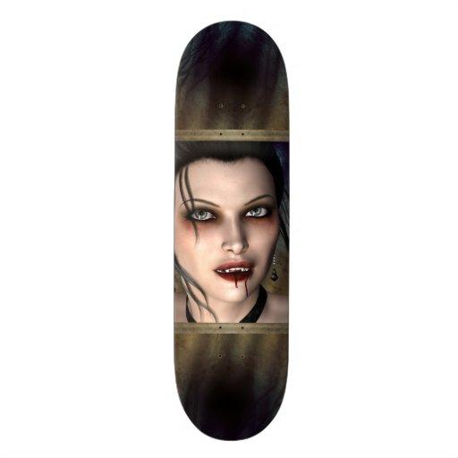 Dark Vampire Beauty Skateboard Deck