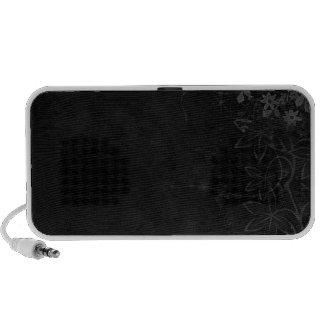 Dark Vector flowers abstract iPod Speakers