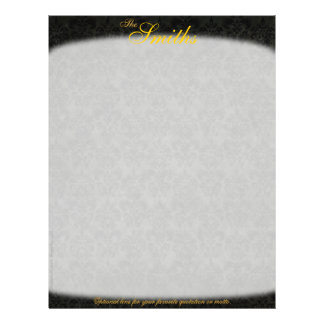 Dark Victorian Personalized Letterhead (2-Sided) 21.5 Cm X 28 Cm Flyer