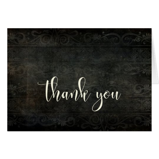 Dark Vintage Design, Cream Typography 30 Thank You