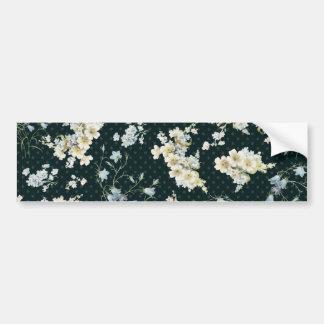 Dark vintage flower wallpaper pattern bumper sticker