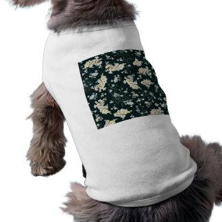 Dark vintage flower wallpaper pattern pet t shirt