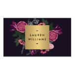 Dark Vintage Modern Floral Motif Luxe Designer II Pack Of Standard Business Cards