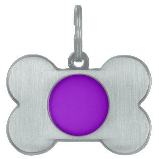 Dark Violet Pet Name Tag