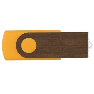 Dark Walnut Bamboo Look Swivel USB 2.0 Flash Drive
