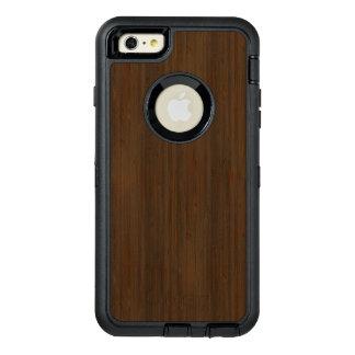 Dark Walnut Brown Bamboo Wood Grain Look OtterBox iPhone 6/6s Plus Case
