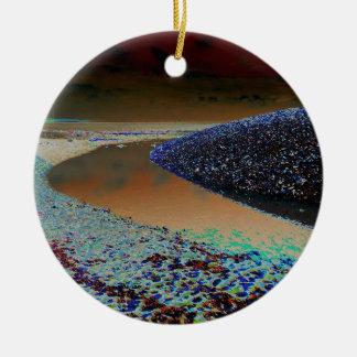 Dark Water Round Ceramic Decoration
