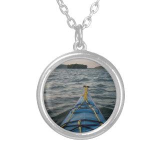 dark water round pendant necklace