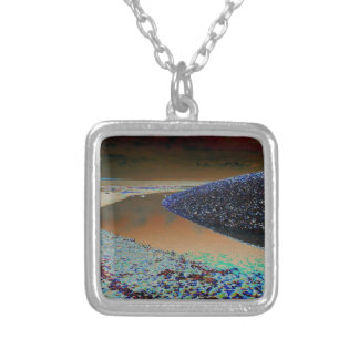Dark Water Silver Plated Necklace