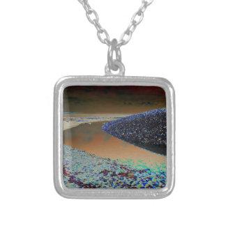Dark Water Square Pendant Necklace