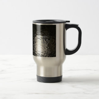 Dark Water waves Drops Crystal Clear Fine glass ti Stainless Steel Travel Mug