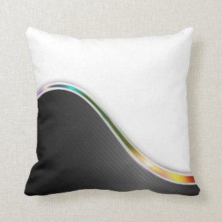 Dark Wave Abstract Throw Pillow