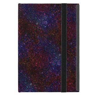 Dark Wavy Blue Red Faux Sparkle Glitter Pixel iPad Mini Case
