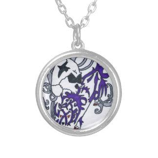 Dark Wolf Round Pendant Necklace