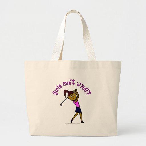 Dark Woman Golfer Bags