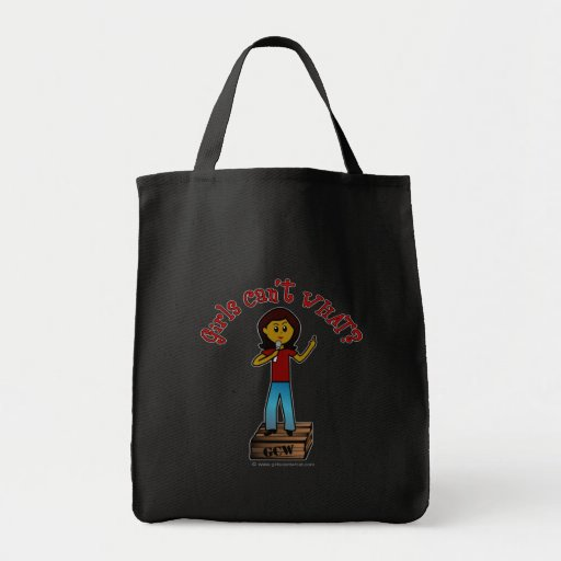 Dark Woman on Soapbox Canvas Bags
