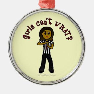 Dark Woman Referee Ornament