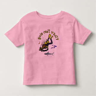 Dark Woman Scuba Diver Toddler T-Shirt