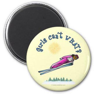 Dark Women s Ski Jumping Refrigerator Magnet