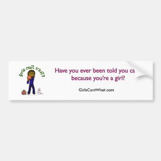 Dark Womens Bowling Bumper Sticker
