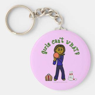 Dark Womens Bowling Keychain