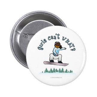 Dark Womens Snowboarding 6 Cm Round Badge