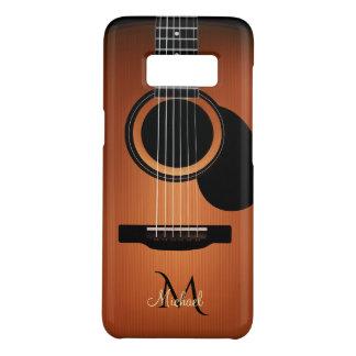 Dark Wood Acoustic Guitar  Monogram Case-Mate Samsung Galaxy S8 Case