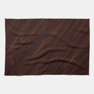 Dark wood background tea towel