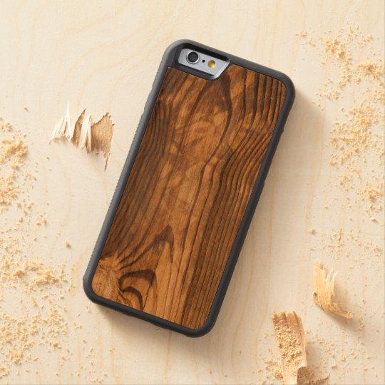dark wood board carved cherry iPhone 6 bumper