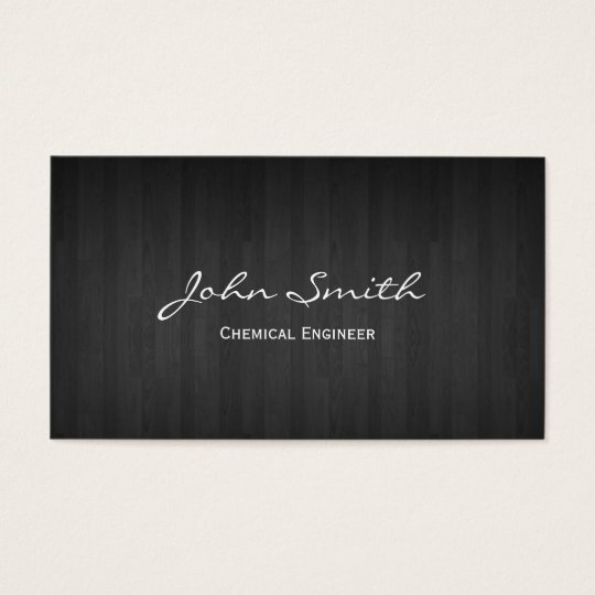 Dark Wood Chemical Engineer Business Card