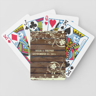 Dark Wood Country Personalized Bicycle Playing Cards