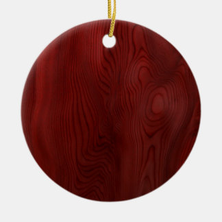Dark Wood Grain Christmas Ornament