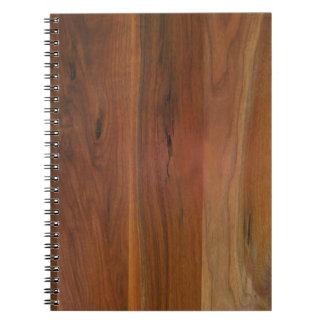 Dark Wood Grain Floor Notebook
