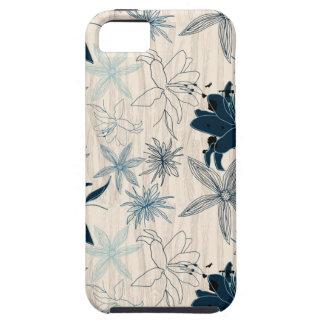 dark wood grain flowers iPhone 5 covers