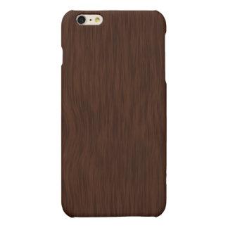 Dark Wood Grain Look Background iPhone 6 Plus Case