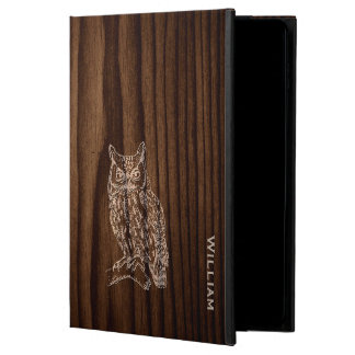 Dark Wood Grain Look with Owl iPad Air 2 Case