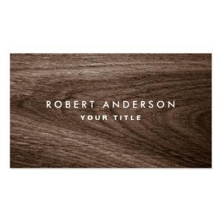 Dark wood grain professional profile pack of standard business cards