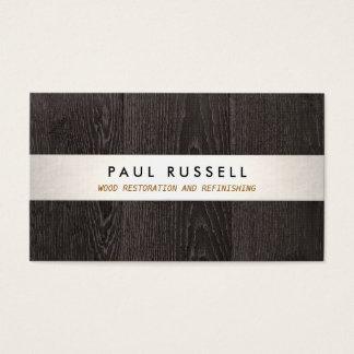 Dark Wood Grain Rustic Carpentry and Flooring