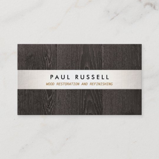 Dark wood grain rustic carpentry and flooring business card zazzle dark wood grain rustic carpentry and flooring business card reheart Image collections