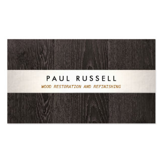 Dark Wood Grain Rustic Carpentry and Flooring Pack Of Standard Business Cards