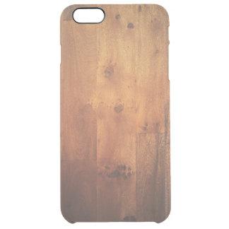 Dark Wood Grain Woodgrain Wood Look Pattern Clear iPhone 6 Plus Case