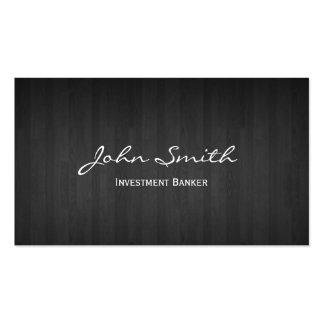 Dark Wood Investment Banker Business Card