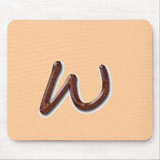 Dark Wood Monogram Mousepads