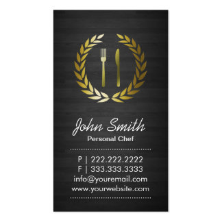 Dark Wood Personal Chef Business Card