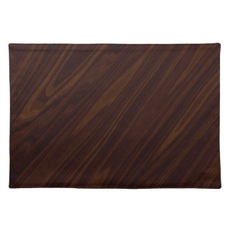 Dark wood placemat