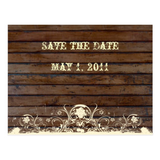Dark Wood Save the Date Postcard